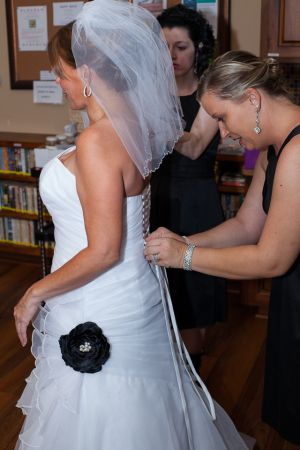 Adjusting Wedding dress